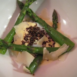 The NoMad Cookbook: Poached Egg with Asparagus and Parmesan