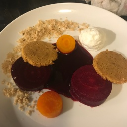 Eleven Madison Park: Beet Salad with Goat Cheese and Caraway